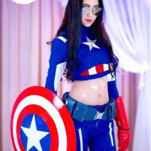Super Premium Set: ชุดพรีเมียม กัปตันอเมริกาหญิง – Captain America Girl